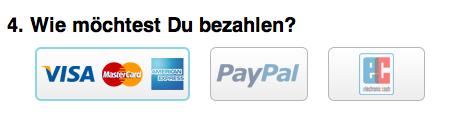 Wie möchtest du zahlen?