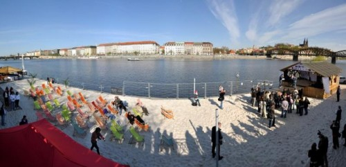 Smíchov beach, Prag /// Foto: www.praha.eu